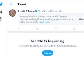 Trump lansează acuzații, pe măsură ce Biden adună tot mai multe voturi. Twitter le marchează ca înșelătoare