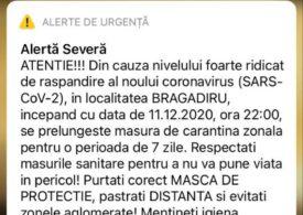 Carantina se prelungește în cinci localități din Ilfov