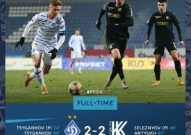 Pas greşit pentru Dinamo Kiev în Ucraina. Mircea Lucescu, nervos pe VAR