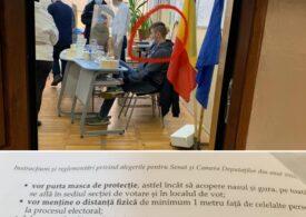 La o secţie de votare din Bucureşti membrii comisiei nu poartă masca de protecţie, reclamă Vlad Voiculescu