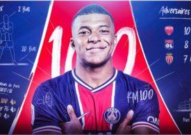 Kylian Mbappe a ajuns la cota 100 de goluri pentru PSG