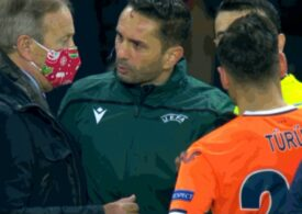 Caz fără precedent în Liga Campionilor: Meciul PSG - Istanbul BB a fost întrerupt din cauza arbitrului Sebastian Colțescu, acuzat de rasism