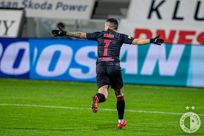 Gol superb marcat de Nicușor Stanciu, care a adus victoria pentru Slavia Praga