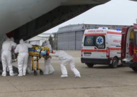Alți doi pacienți Covid în stare gravă sunt transportați de la București cu o aeronavă militară