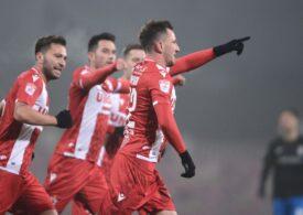 Dinamo câștigă al treilea meci consecutiv și urcă în clasamentul Ligii 1