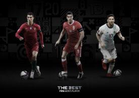 """FIFA a anunțat cei trei finaliști la premiul """"Cel mai bun fotbalist al anului 2020"""""""