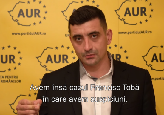 """După ce a fost huiduit la Timișoara pentru """"torționarii comuniști din partid"""", George Simion anunță că mandatul de parlamentar pentru Francisc Tobă nu va fi validat"""