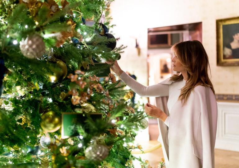 Melania Trump a decorat Casa Albă pentru Crăciun, pentru ultima dată (Foto&Video)