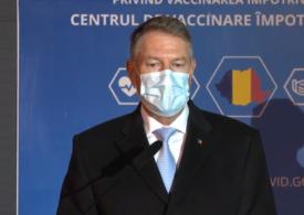 Iohannis spune că e posibil să avem o primă tranșă cu un milion de doze de vaccin antiCOVID. Peste 80% din personalul medical s-ar vaccina