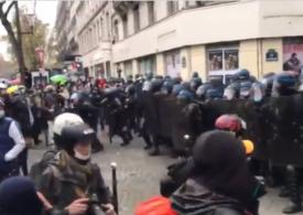 Noi proteste în Franța: Peste 100 de persoane au fost reținute (Video)