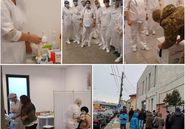 Coadă la noul centru de vaccinare deschis în Sectorul 6: Oamenii au venit și cu o oră și jumătate mai devreme