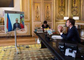 Convorbire Putin-Macron, înaintea unei reuniuni privind Nagorno-Karabah