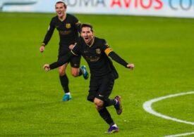 Reacție amuzantă a unuia dintre băieții lui Leo Messi după un gol splendid marcat de argentinian cu Granada (Video)