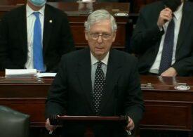 Liderul majorităţii republicane în Senatul american: Revolta de la Capitoliu a fost alimentată cu minciuni şi provocată de preşedinte