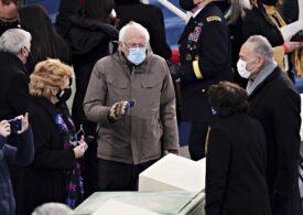 Bernie Sanders, în vizorul internauţilor după ce a purtat mănuşi de lână tricotate la ceremonia lui Biden (Foto)