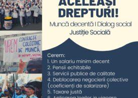 Sindicatele din Cartel Alfa anunță proteste începând de joi. Iată programul şi revendicările