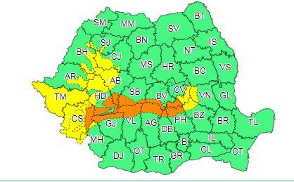 Coduri portocaliu și galben de viscol și informare de vremea rea pentru toată țara. Cum va fi vremea în București