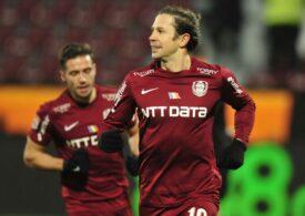 CFR Cluj câștigă și o egalează pe FCSB în fruntea clasamentului Ligii 1
