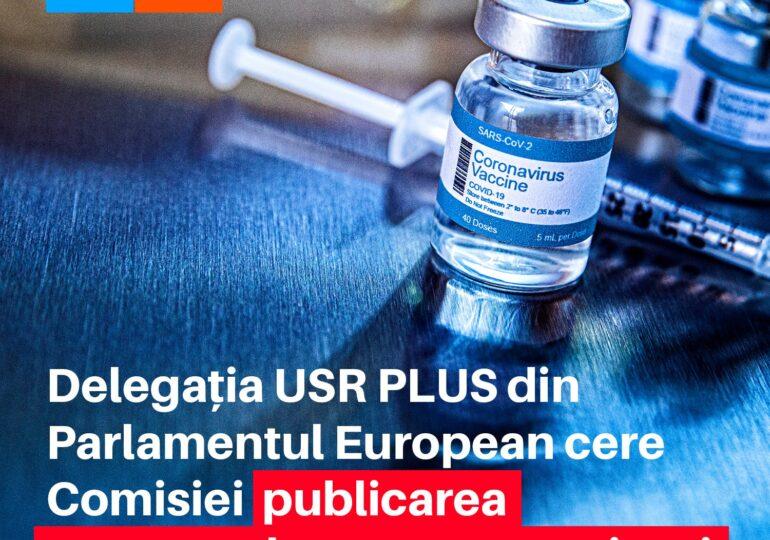 Europarlamentarii USR PLUS cer Comisiei Europene desecretizarea contractelor de achiziționare a vaccinurilor antiCOVID