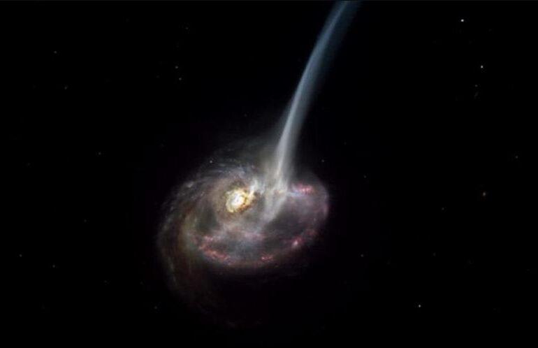 Oamenii de știință au descoperit o galaxie care moare