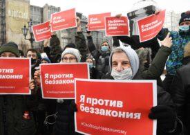 Rusia acuză SUA că se implică în protestele izbucnite după arestarea lui Navalnîi