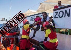 O navă sub pavilion spaniol a salvat 265 de migranţi pe Marea Mediterană