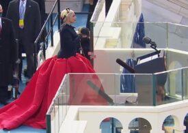 Lady Gaga, interpretare puternică a imnului SUA, la învestirea lui Biden (Video)