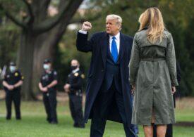 Melania transmite un apel la iubire și pace în loc de violențe, în timp ce Donald Trump își pregătește o plecare grandioasă, cu covor roșu și fanfară (Video)
