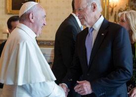"""Papa Francisc speră că Biden va lucra pentru """"adevărata justiţie, libertate şi respectarea drepturilor tuturor"""""""