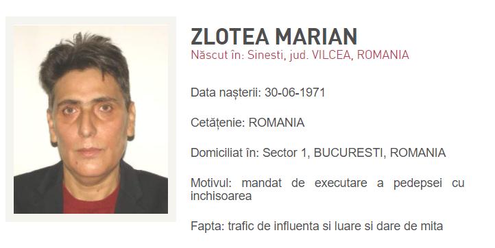 Marian Zlotea a fost dat în urmărire de Poliţie, după ce a anunţat că nu e în ţară