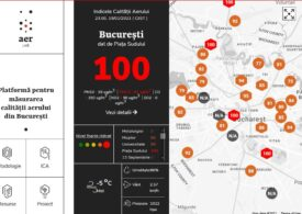 O nouă depăşire a limitelor de poluare în Bucureşti. Aer irespirabil, marţi seară