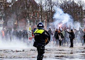 Sute de arestări în Olanda după violențele de la protestele anti-restricții (Galerie foto & video)