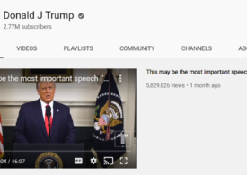 YouTube îl interzice pe Trump pentru încă o săptămână