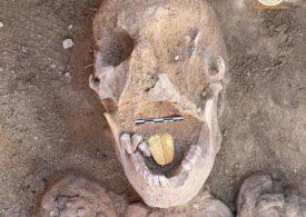 Mumii cu limba de aur, vechi de 2.000 de ani, descoperite în Egipt
