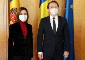 Maia Sandu s-a întâlnit cu premierul Cîţu: România va depune toate eforturile pentru a sprijini în continuare Republica Moldova