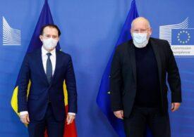 Florin Cîţu s-a întâlnit cu Frans Timmermans și alți oficiali europeni la Bruxelles