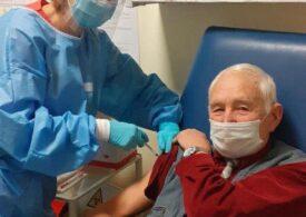 Un veterean din Al Doilea Război Mondial s-a vaccinat antiCovid, la 91 de ani