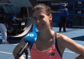 Reacția Soranei Cîrstea după ce a eliminat-o pe Petra Kvitova: Australienii au aplaudat-o frenetic (Video)