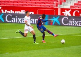 Barcelona câștigă la Sevilla și o depășește pe Real Madrid în clasamentul din Primera Division