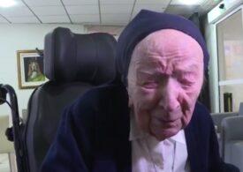 Cea mai vârstnică persoană din Europa, o călugăriţă de 117 ani, s-a vindecat de COVID-19