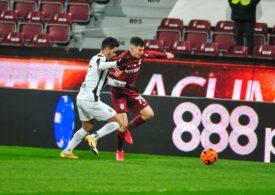 Liga 1: CFR Cluj s-a încurcat de penultima clasată