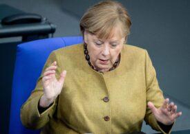 Viralul zilei: Ups! Merkel şi-a uitat masca