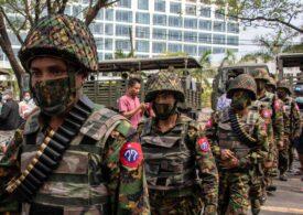 Generalii care au preluat puterea cu forța în Myanmar au conturile blocate și interdicție în Marea Britanie