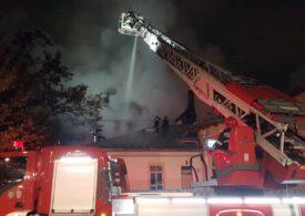 Încă un incendiu puternic în București (Video)