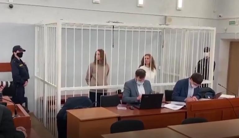 Două tinere jurnaliste au fost condamnate la închisoare doar pentru că au filmat protestele din Belarus