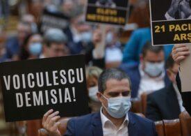 """PSD se grăbește cu moțiunea împotriva lui Voiculescu, """"să aibă Cîțu motiv de remaniere"""". Parlamentarii AUR n-au mai avut răbdare și i-au cerut în stradă demisia"""