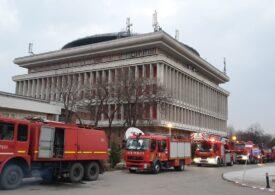"""Incendiu puternic la rectoratul Politehnicii. <span style=""""color:#ff0000;font-size:100%;"""">UPDATE</span> A fost anunțată cauza"""