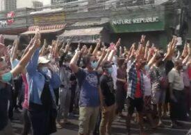 Legea marţială a fost instituită în unele oraşe din Myanmar, pentru oprirea protestelor faţă de lovitura de stat