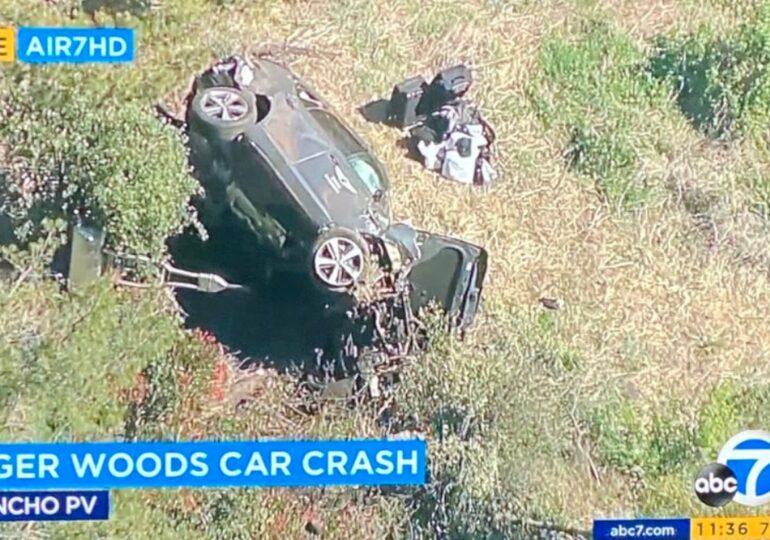 Tiger Woods a ajuns la spital după un grav accident de mașină