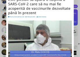 Un biolog de la Marius Nasta urmează să fie concediat, în plină pandemie. Deputatul Ungureanu cere Ministerului Sănătății să intervină